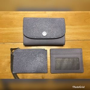 Michael Kors Flap Leather Wallet w/ Inserts- Lilac